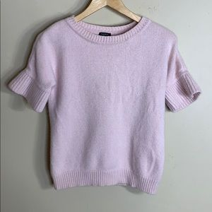 Talbots pink short sleeve cashmere sweater